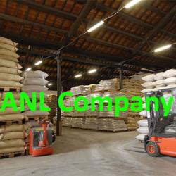hạnh nhân hàng xá (thô) được đóng gói theo quy cách bao 25kg tại kho ANL