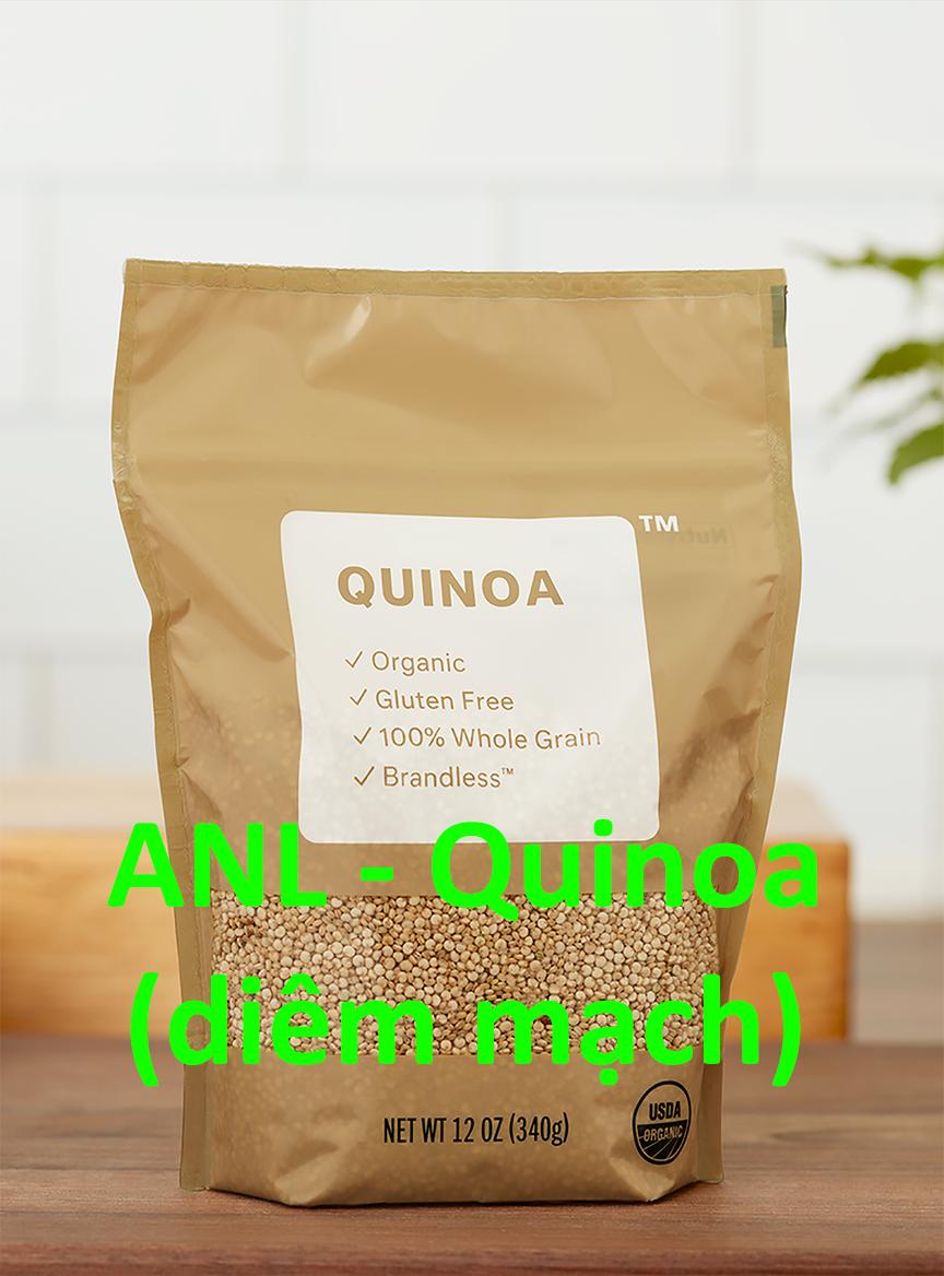 hạt quinoa ANL đóng gói dạng túi được bày bán tại các cửa hàng và siêu thị, chúng tôi phân phối và bỏ sỉ theo yêu cầu của khách mua sỉ