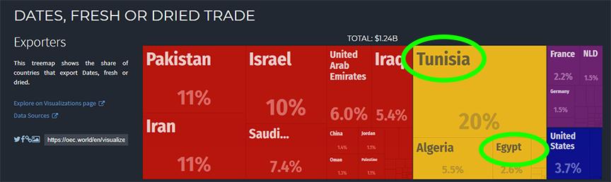 những quốc gia đứng top thế giới về xuất khẩu chà là, ANL chúng tôi thu mua và nhập khẩu trái chà là từ Tunisia và Ai Cập