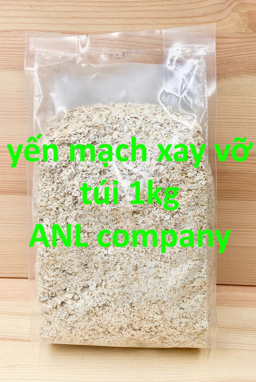 yến mạch xay vỡ, hay còn gọi là cán vỡ. được đóng gói ra túi 1kg từ nguyên liệu yến mạch được ANL nhập khẩu từ các nước Úc, Mỹ
