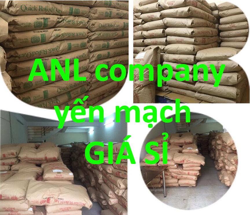 dựa theo xu hướng thị trường, ANL cho ra đời sản phẩm yến mạch giá sỉ các loại. Yến mạch được ANL thu thập từ nhiều nơi trên thế giới và nhập khẩu về Việt Nam. Sau đó cung cấp sỉ lại cho những khách hàng có nhu cầu mua sỉ.