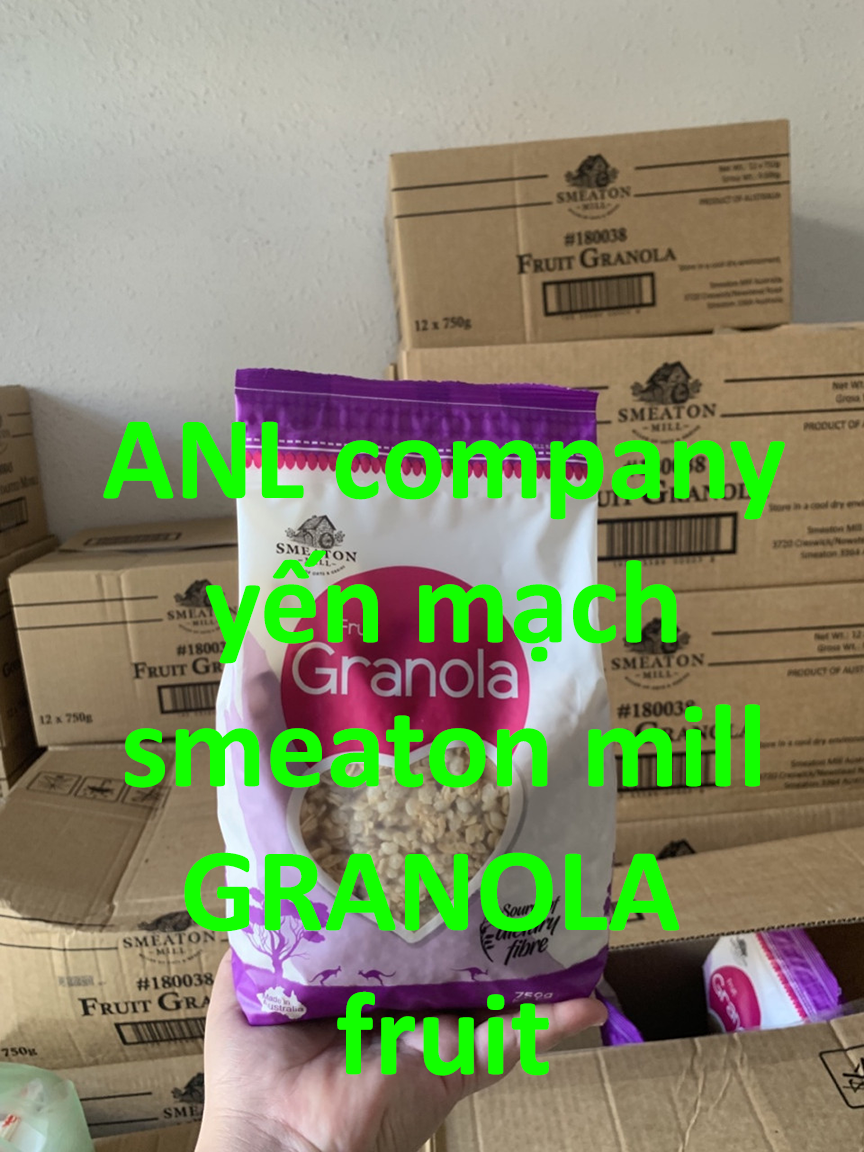 yến mạch Úc - granola fruit, hàng chính hãng Smeaton Mill, được nhập khẩu nguyên seal bởi ANL