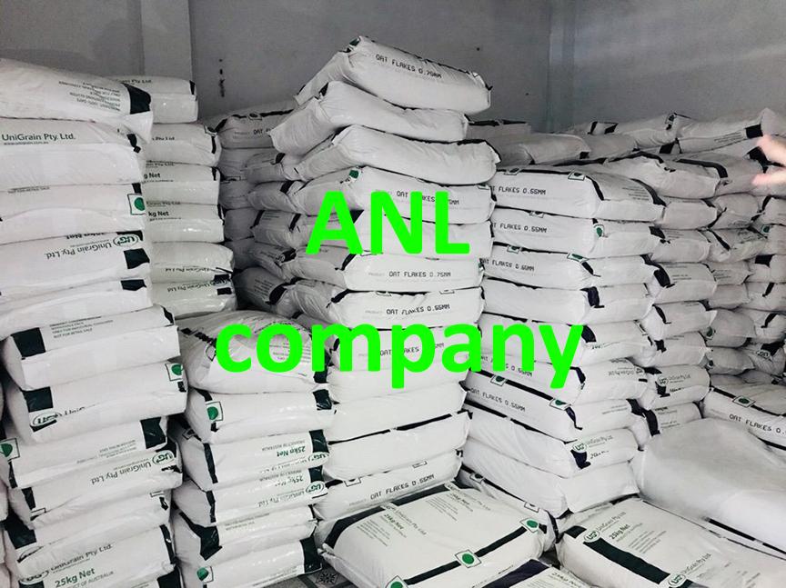 yến mạch Úc, bao 25kg, hãng Unigrain, được ANL nhập khẩu nguyên bao và phân phối theo giá sỉ tại thị trường Việt Nam