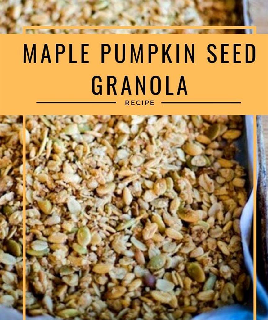 granola với nhân hạt bí xanh