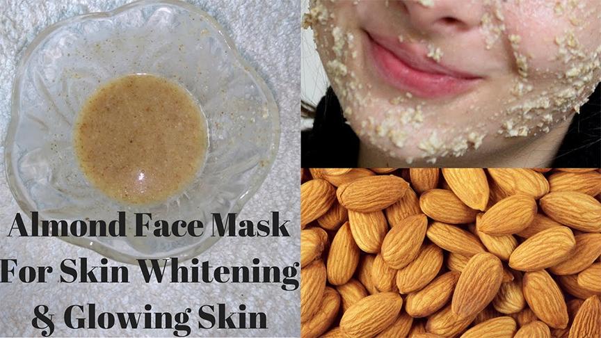 làm mặt nạ với hạt hạnh nhân, rất tốt cho da của bạn