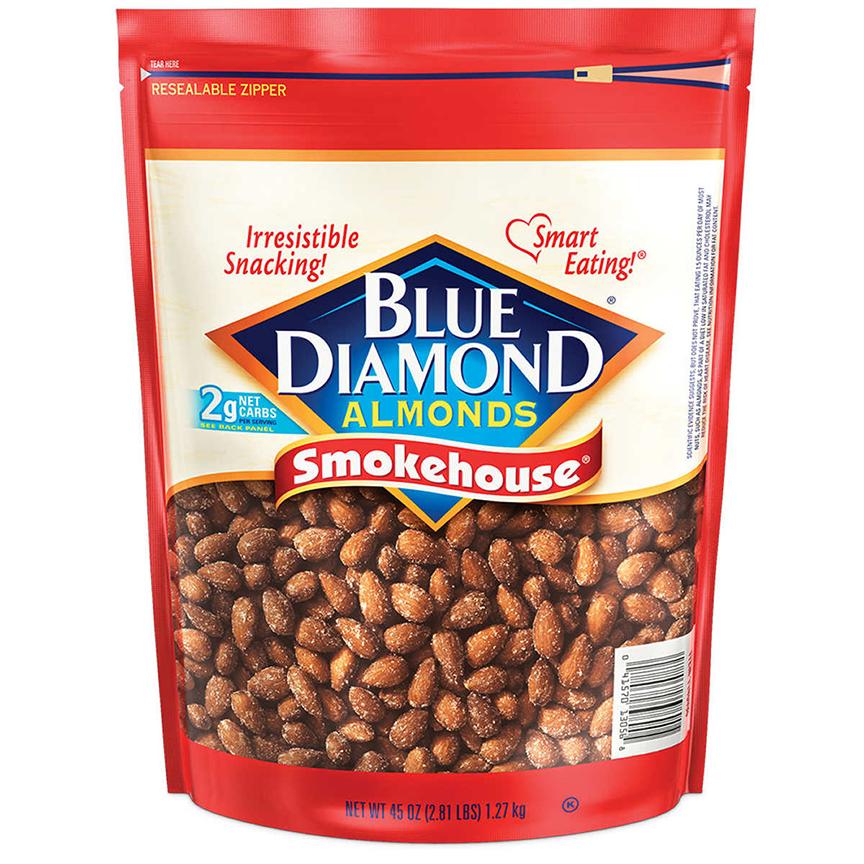 hạt hạnh nhân tách vỏ chính hãng với thương hiệu Blue Diamond của Mỹ