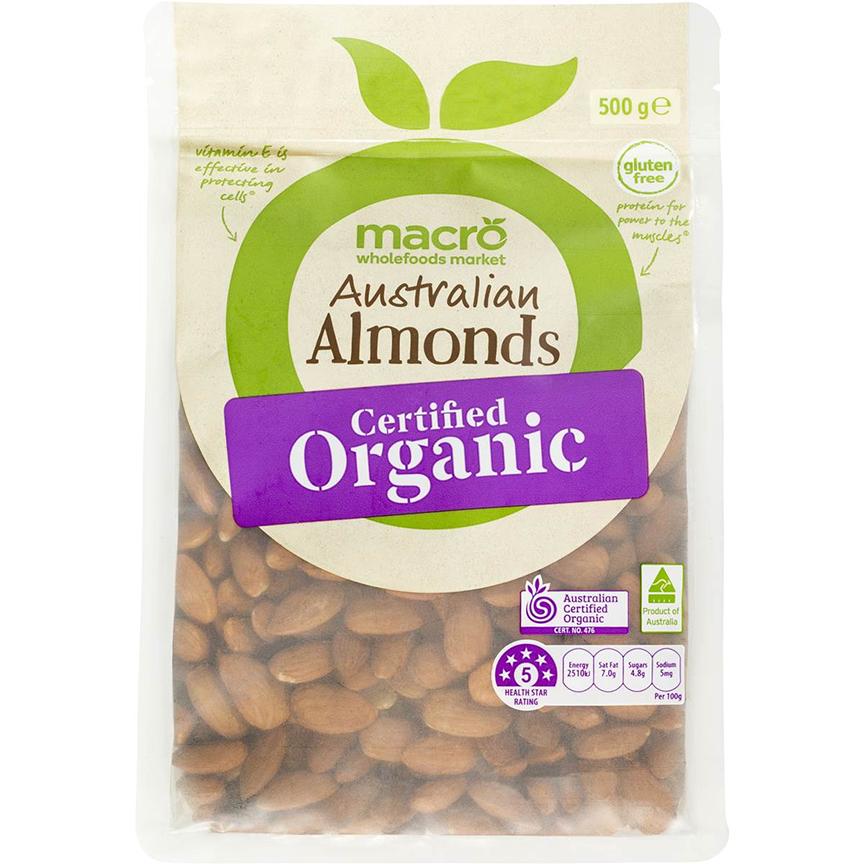 hạnh nhân tách vỏ tiêu chuẩn và chứng nhận Organic