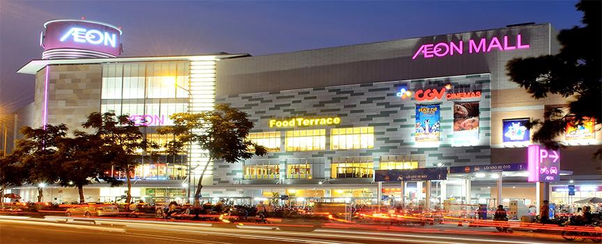 hạt hạnh nhân cũng được bán tại các siêu thị khác như AEON mall