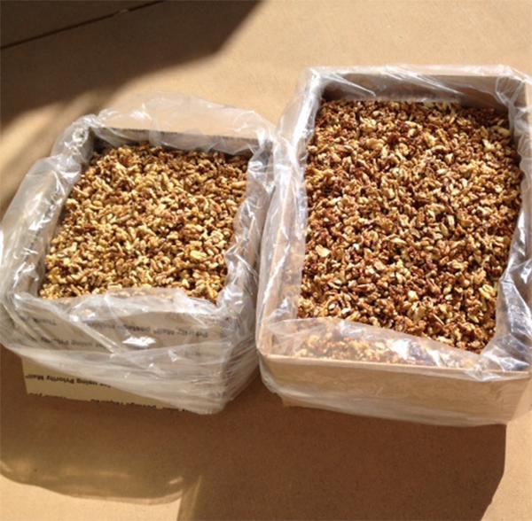 nhân hạt óc chó, bóc vỏ sẵn được nhập khẩu từ Mỹ về Việt Nam. dạng hàng xá (nguyên liệu)