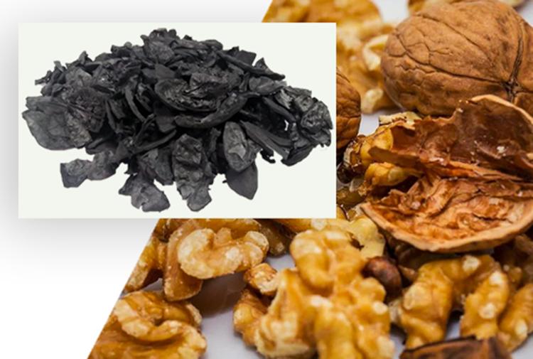 vỏ hạt óc chó được sử dụng làm chất đốt như: than, củi, mùn cưa...